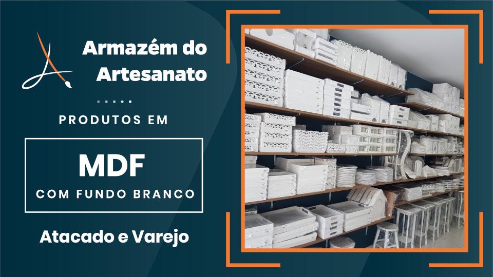 Armazém do Artesanato - Banner MDF Fundo Branco