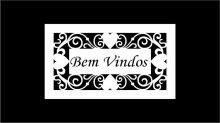 PLACA PORTA LA172/30 - BEM VINDOS -2520