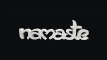 PALAVRA NAMASTE LA720 - 18mm - C/ FUNDO - 311260