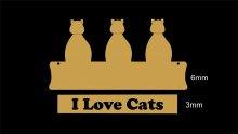 RECORTE I LOVE CATS LA786-35 CRU